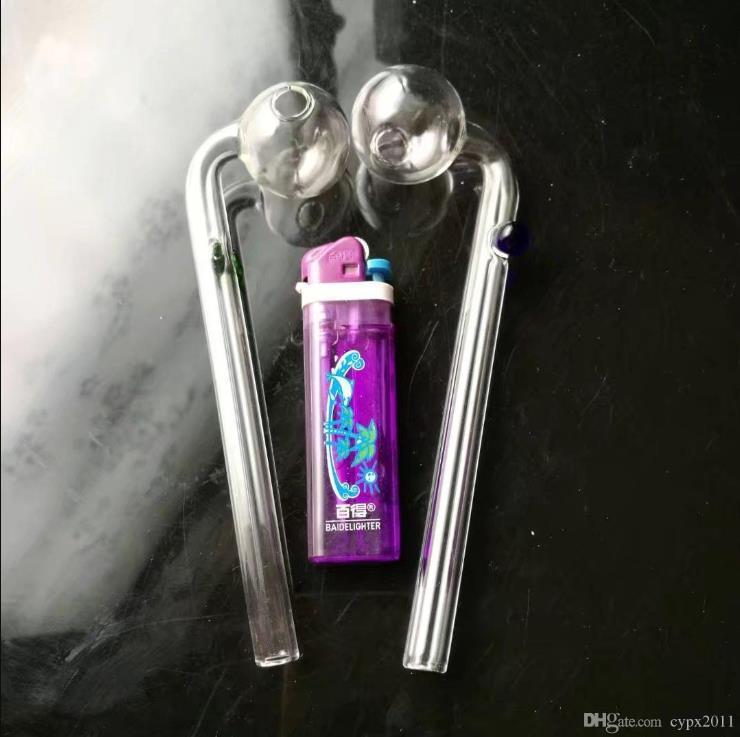 Цветные точки опоры длинный изгиб горшок оптом стекло Кальян, Стекло водопроводная труба фитинги, бесплатная доставка