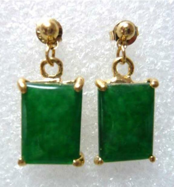 Jewelryr yeşim küpe güzel ışık yeşil doğal yeşim küpeler ücretsiz nakliye