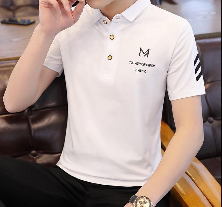 Uomo Abbigliamento Classico Tees Mens Designer magliette casual Solid Polo Maniche corte gira giù Estate