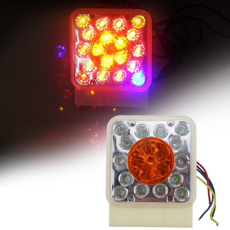 2Pcs LED тяжелый грузовик пластиковые боковые лампы Красный Желтый Синий Боковые габаритные огни для 12V автомобиль грузовик прицеп Лорри