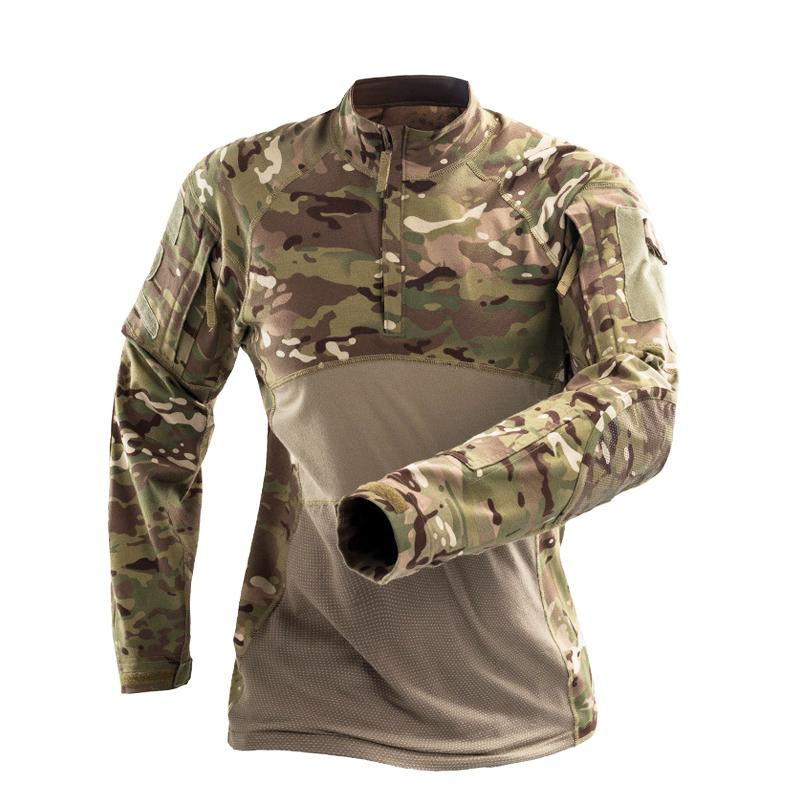 Multicam Camouflage Tactical Shirt Army Combat Shirts Camo Men Long Sleeve Quick Dry Outdoor Hiking Hunting T Shirt Camping Outdoor Wear