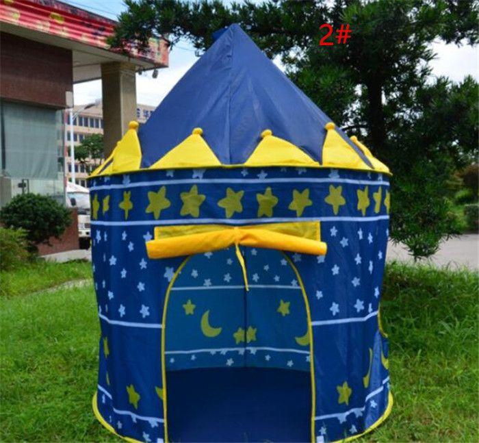 4 Renkler Çocuklar Oyuncak Çadır Çocuk Katlanır Oyun Evi Taşınabilir Açık Kapalı Oyuncak Çadır Prenses Prens Kalesi Cubby Playhut Hediyeler