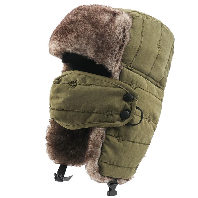 2021 Warm Trapper Hat Thermal Faux Fur Earflap Men Women Windproof Winter Bomber  Hats Snow Cap With Mask Ushanka Hats From Ever1314, $19.16 | DHgate.Com