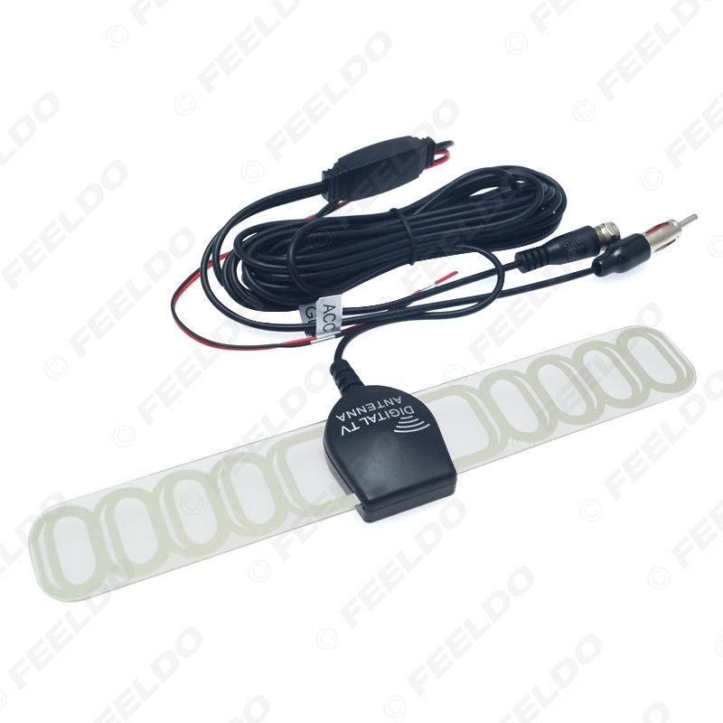 Car TV Digital DVB-T 2in1 FM/Radio Antenna Amp Booster F connector SKU:#897