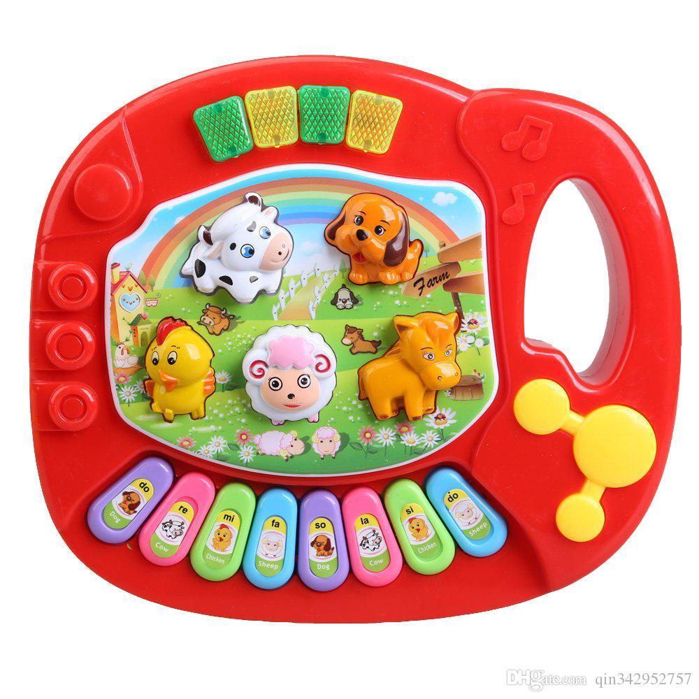 Il bambino scherza educativo musicale Piano Animal Farm Toy Developmental Musica bambini educativi giocattolo regalo di compleanno di Natale DHL