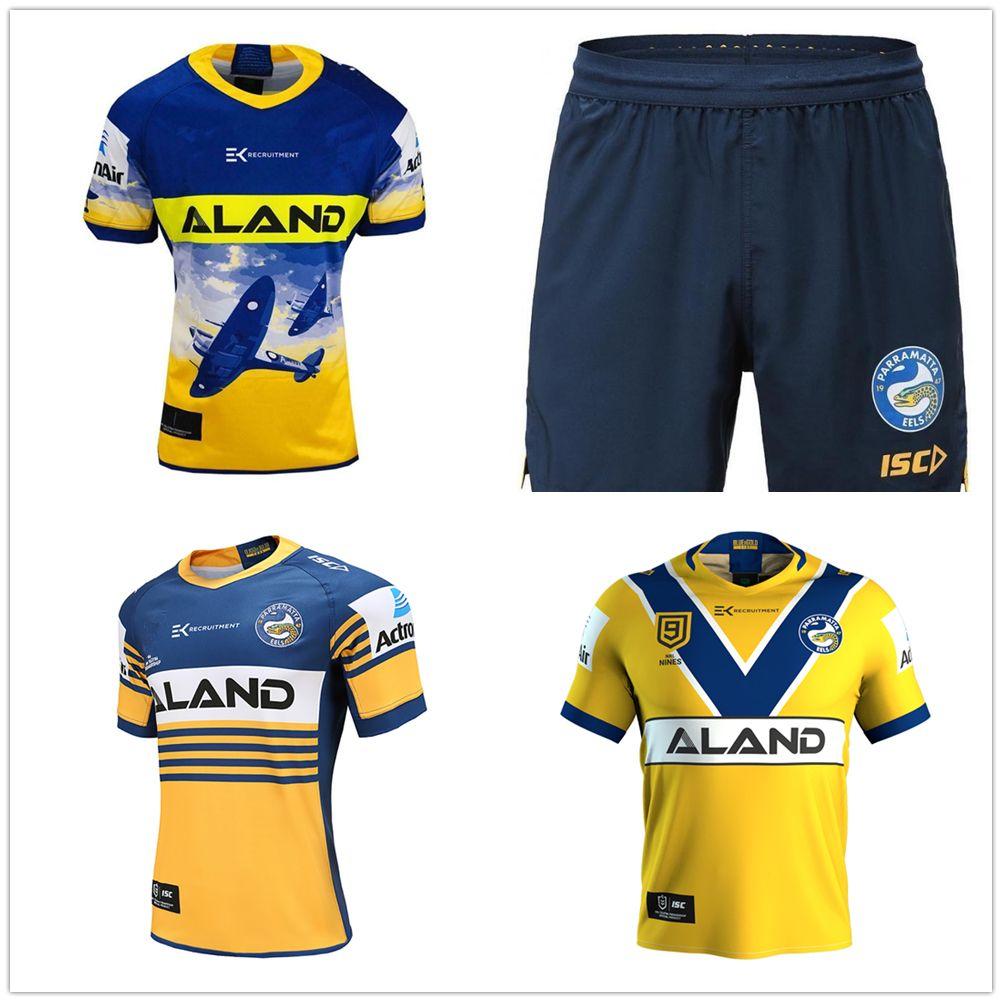 camicia Rugby Maglie 2020 in Australia di rugby Jersey migliore casa di qualità 2020 Parramatta Eels ANZAC Nines singoletto