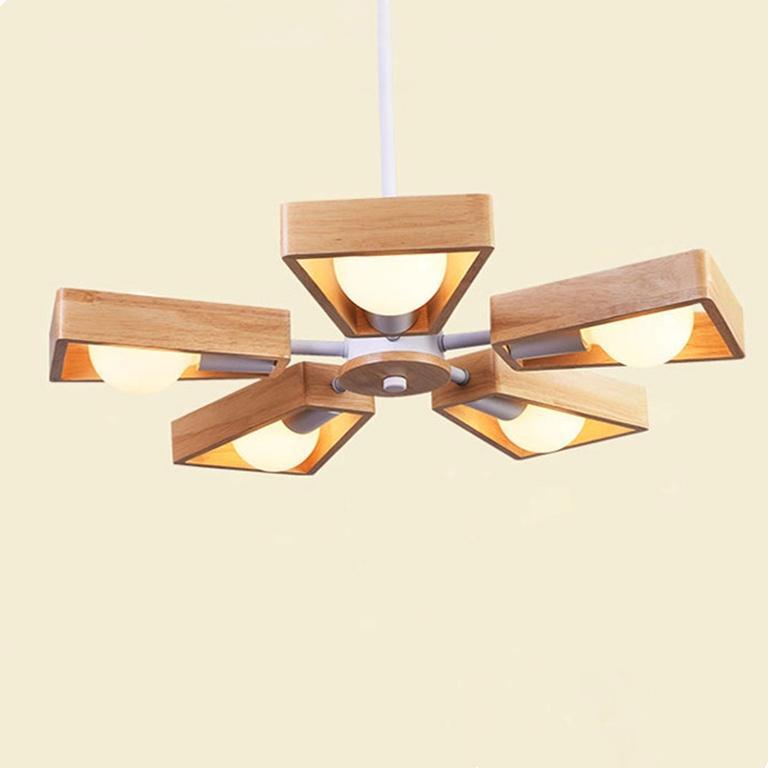 blanco hojas negras techo luces moderno ventilador de hierro araña de madera