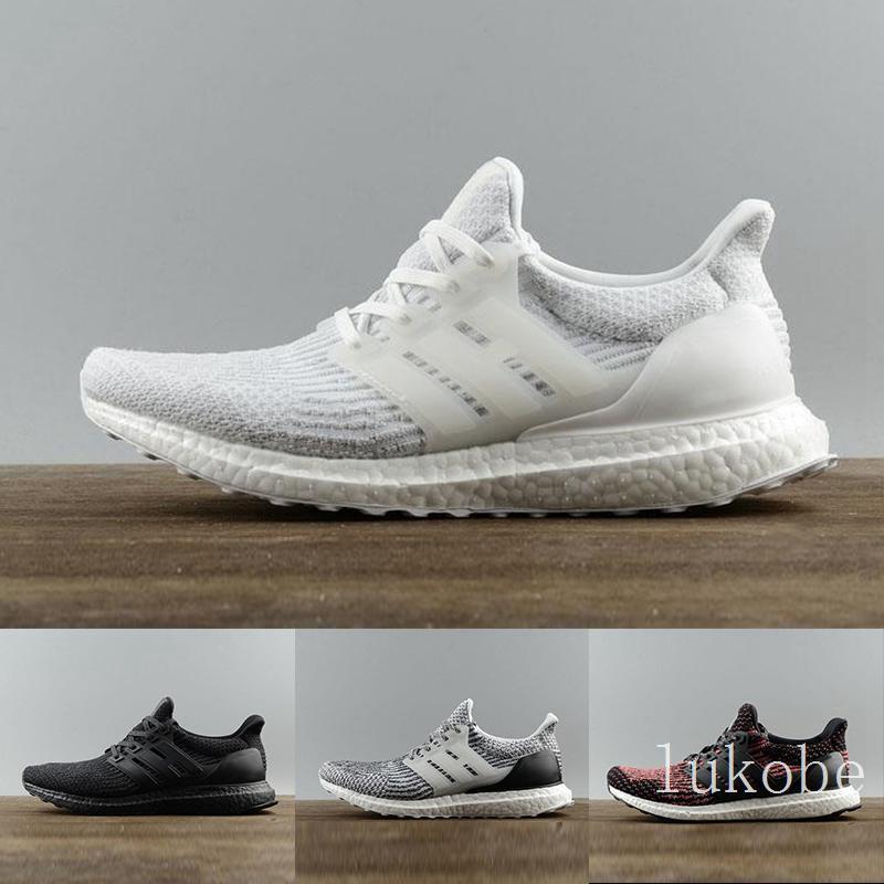 2020 High Quality 3.0 4.0 Running Shoes Men Women Ultra 3.0 III Primeknit Runs White Black Sports Sneaker 36-45