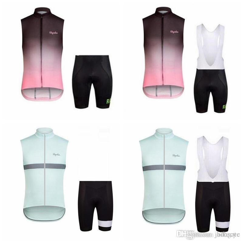 RAPHA team Cycling Sleeveless jersey Vest (bib) shorts sets bike wear Clothes MTB uniform bicycle Maillot Culotte E3112