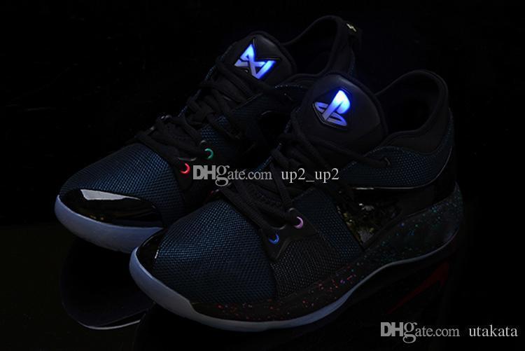 Новые Lights UP PG 2 PlayStation Taurus Road Master Уличная обувь для Paul George II PG2 2s PS Спортивные кроссовки Размер 40-46