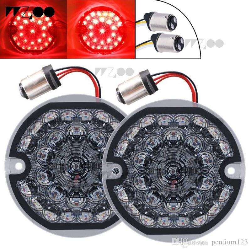 2019 new 2 pcs 오토바이 LED 's 밝은 Red Turn Signal Running 빛 표시 등 Lamp 대 한 94-12 FLSTC