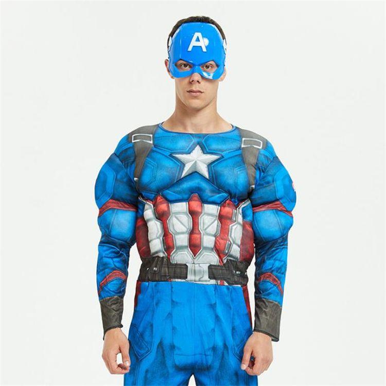 halloween costumes Marvel Avengers Superheroes Captain America Iron Man Cosplay Vêtements avec masque 165cm-180cm gros TSS388