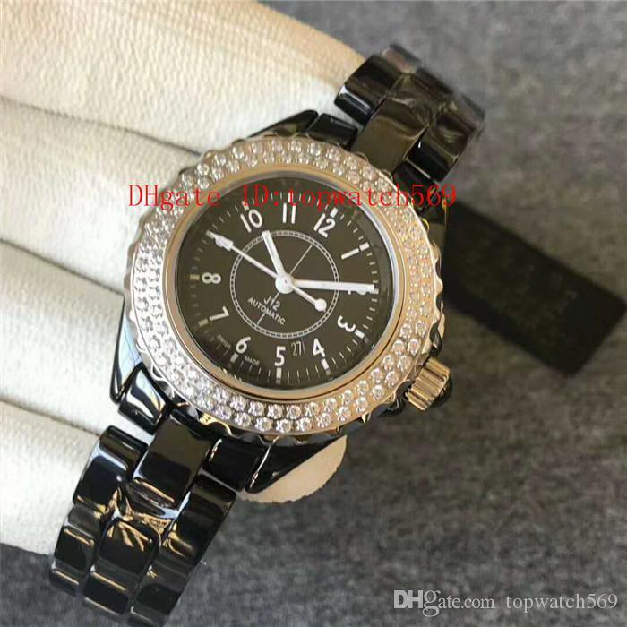 GT fábrica de cerámica del diamante V2 Señora del reloj para mujer reloj suizo 8215 mecánico automático 28800 vph Fecha de cristal de zafiro resistente al agua