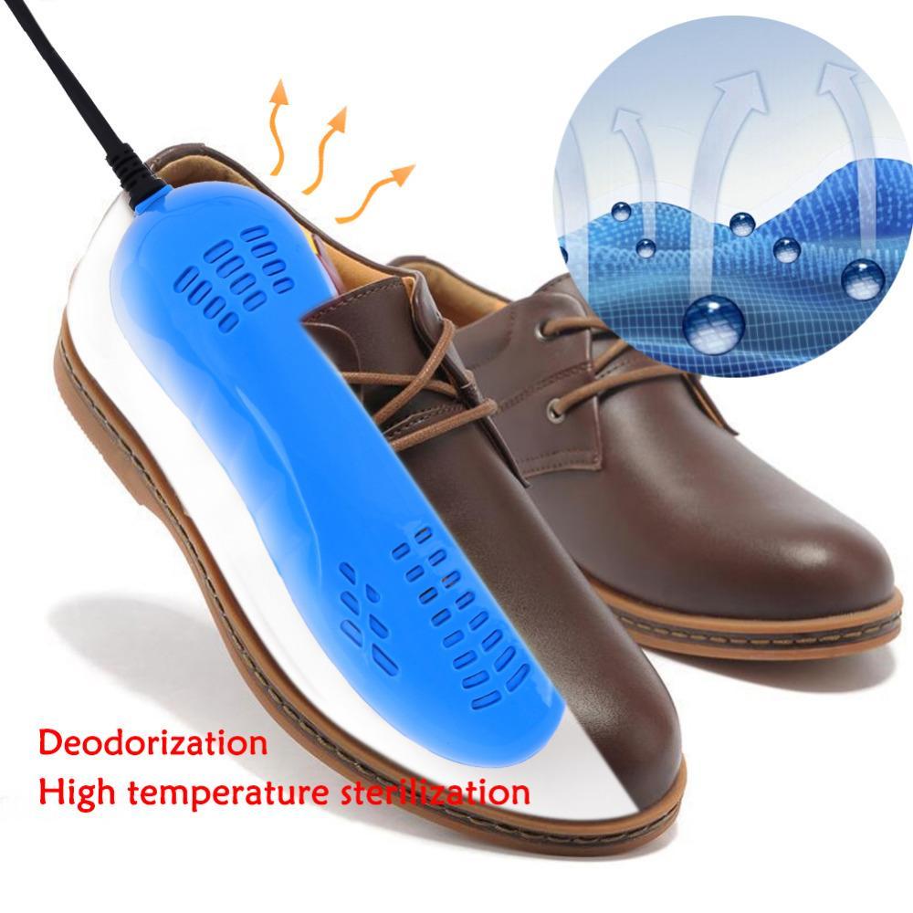 Portáteis corrida sapatos quentes sapatos Pé de esterilização Secador Aquecedor Pé Protector Bota Odor Desodorante Heater plug-nos