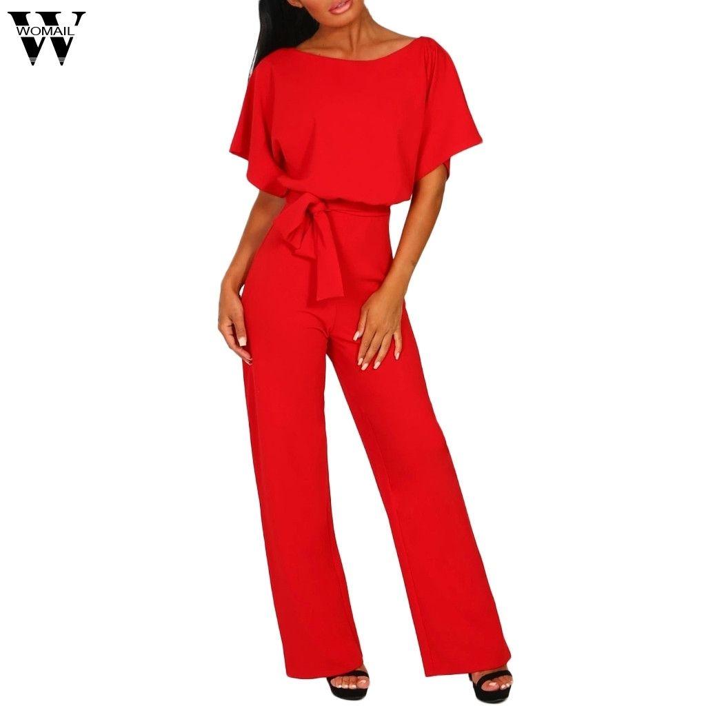 여자 2018 플러스 사이즈 Elegantes 짧은 소매 여자의 레이스 버튼 짧은 소매 Jumpsuit 패션에 대한 여자 2018 여름 점프 슈트 Y19060501