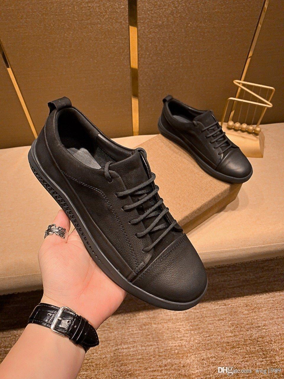 2020 sapatos de couro casuais superiores dos homens novo designer de luxo pele de carneiro revestimento antiderrapante sola usando high-end confortável tamanho 39 um 44