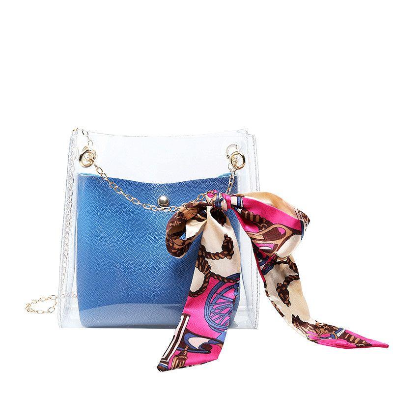 one pcs free shipping waterproof pu women messenger bags 2019 handbags for women small satchel transparent woman backpack bag