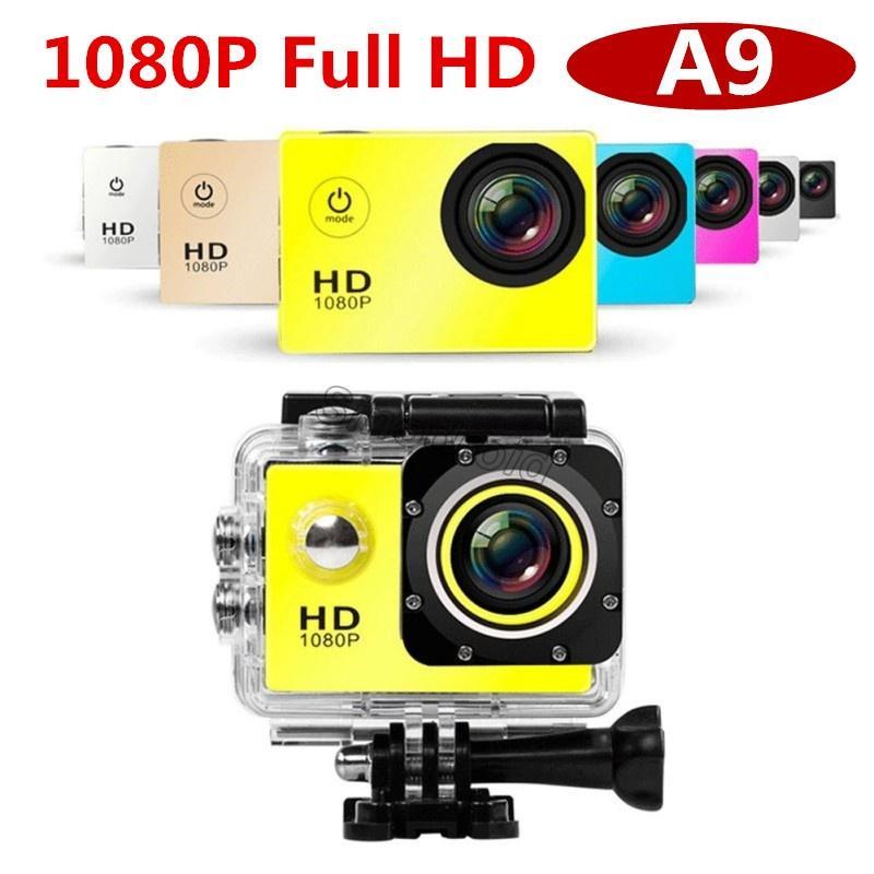 1080P عمل الكاميرا كامل HD A9 عمل Carmera 2.0 شاشة 30M خوذة مصغرة للماء الرياضة DV كاميرا سيارة DVR A9 الرياضة الكاميرا