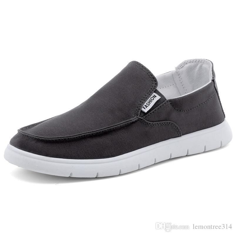 Mens Canvas Мокасины лоферы Flat Loafer Повседневный палубные обувь Вождение бездельник Досуг Прогулки кроссовки эспадрильи мокасины FX38