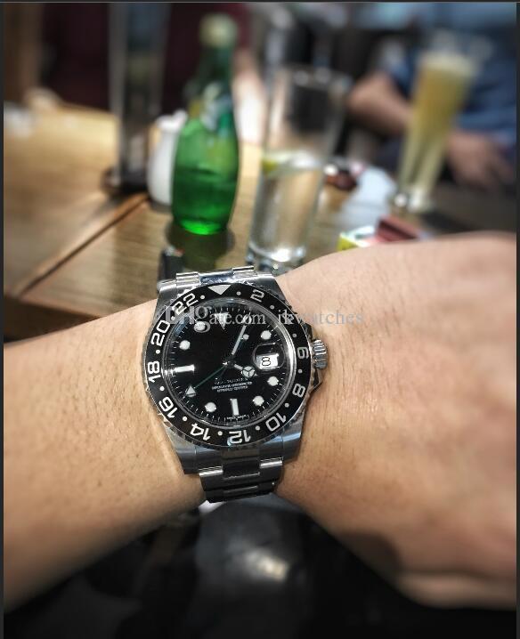 기계적 남자 시계 자동 스테인레스 스틸 밴드 남자 시계 197