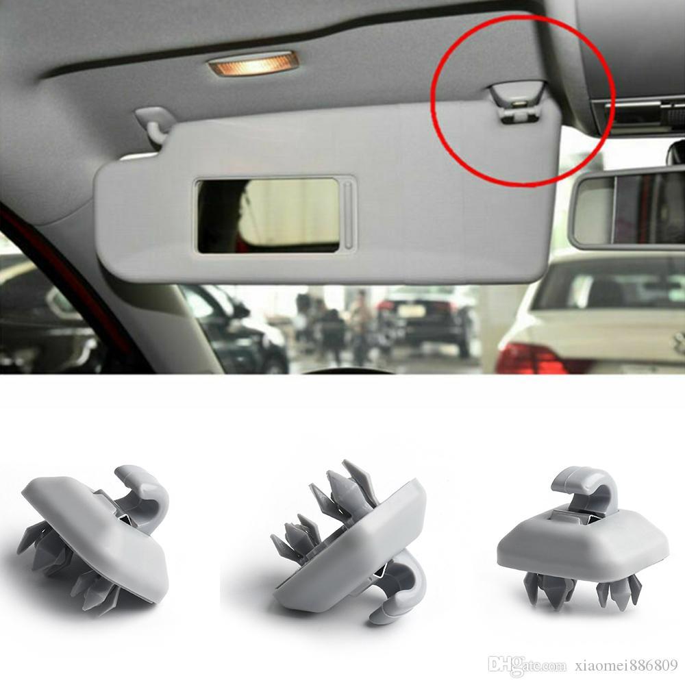 1Pc Car Interior Sun Visor Hook Clip Bracket For Audi Q3 Q5 Q7 A1 A3 A4 A5 Grey