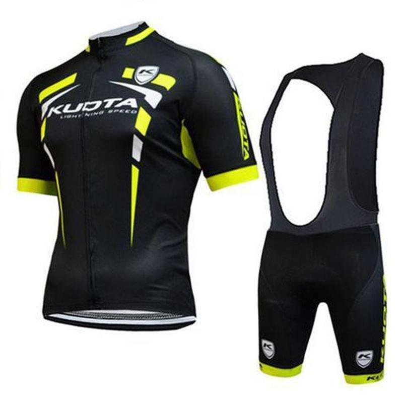 2020 New Team Kuota Summer Men Short Sleeve Black Cycling Jersey Mountain Bike Shirt Quick Dry Mtb Bicycle Cycling Clothing Ropa Ciclism