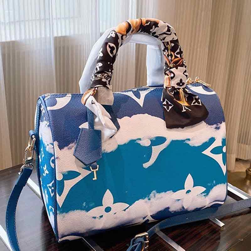 Drop Shipping Gradient couleur toile épaule de mode Sac à main Sac Messenger bourse plate-forme Sac 25cmx20cmx5.5cm Type6