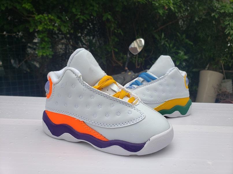 13 Zapatos GS juegos infantil baloncesto de los niños de diseño barato entrenador blanco Negro Púrpura Naranja 13s niños niñas bebé niños pequeños Sport zapatillas de deporte