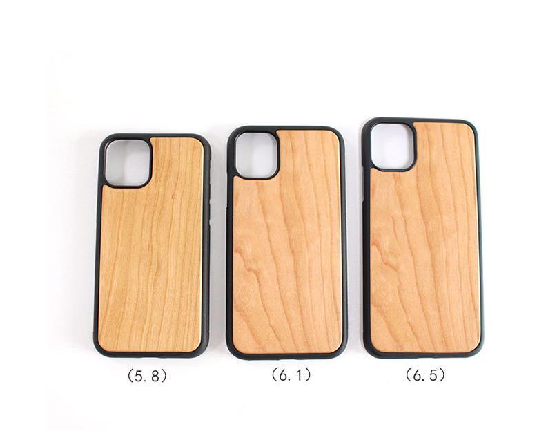New Wood Phone Cases For iPhone 11 Pro Max Shockproof Hard Cell Phone Back Cover DHL