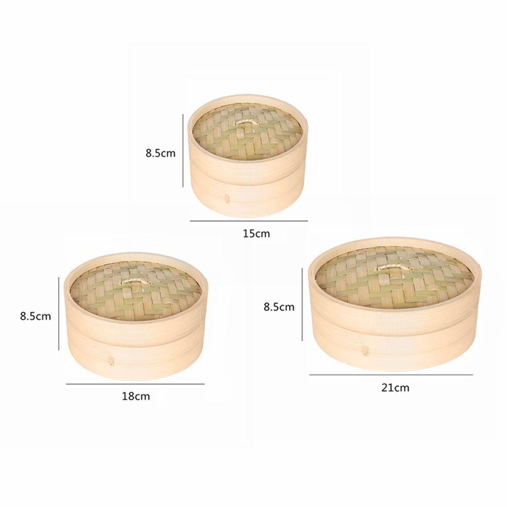 Una copertura Cage e una cucina vapore di bambù Pesce Riso Verdure Snack Basket Set cucina d'