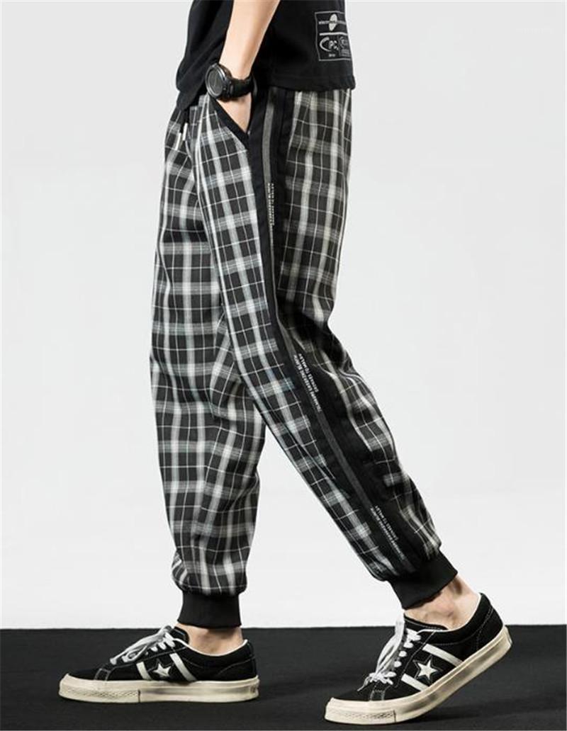 Style de Jogger Pantalon New Style Hommes Designer Pantalon Hommes Plaid Sarouel Mode Desigenr Elastique Taille rue