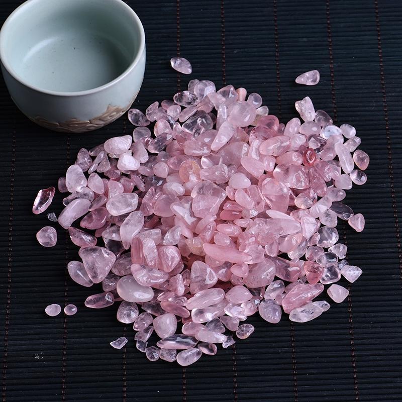 50g 자연 장미 수족관 돌 홈 장식 공예에 사용할 수있는 치유 화이트 크리스탈 미니 암석 광물 표본을 석영