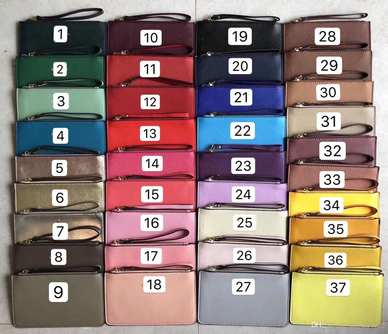 37 Couleur Marque Nouveaux portefeuilles en cuir BRACELET femmes sacs à main sacs d'embrayage à glissière sac carte Marque US