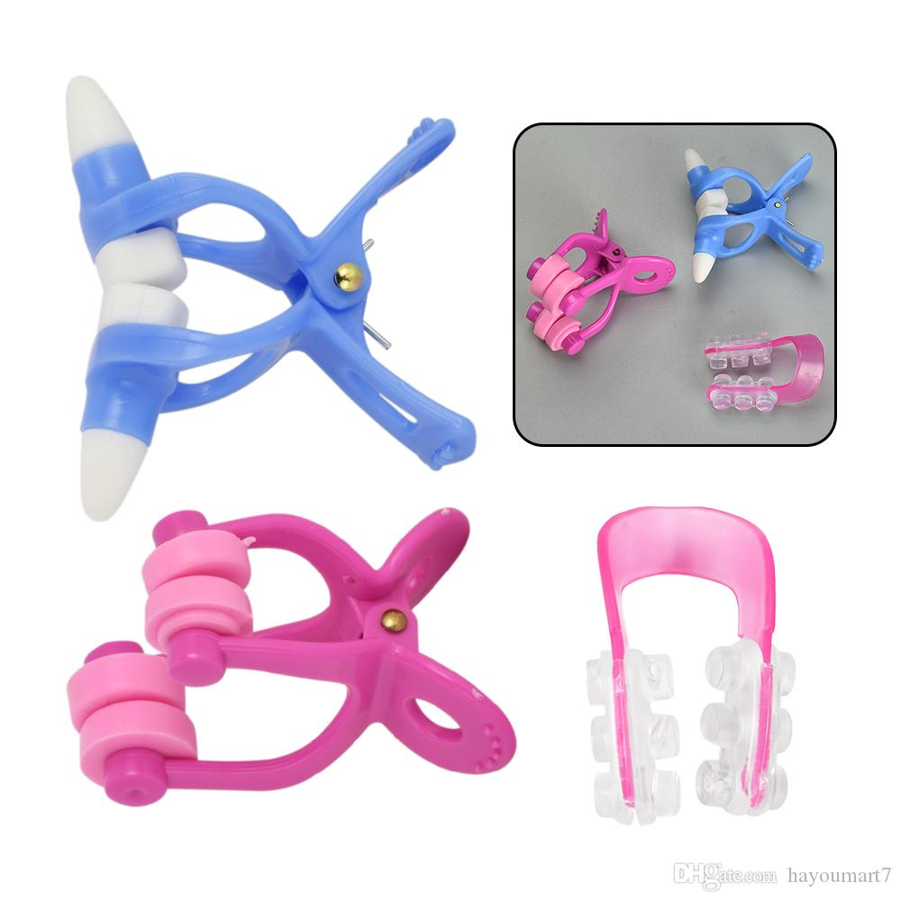3in1 Розовый Shaper Beauty Clip Зажим для Носа Без Боли Силиконовый Лифт Выпрямляющий Нос Макияж Лифтинг Мост Выпрямляющий Инструмент Здравоохранения