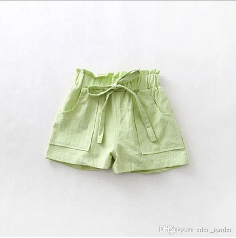 Baby girls shorts Candy Color children short pants cotton linen kids shorts summer girls clothes kids clothing 6 colors YW2764