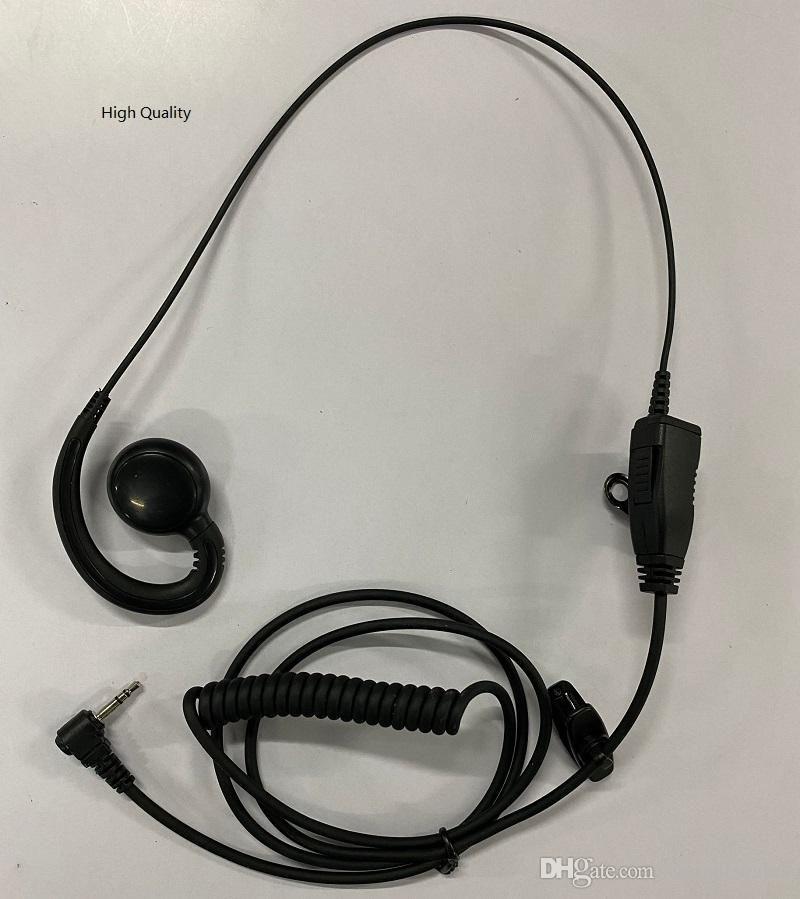 1 PIN PTT Earpiece MIC FOR Motorola Radios Curl Line 2.5mm T6200 T6210 T6220 T6250 T6300 T6400 T7200 Black C021 Alishow 20 PLUS