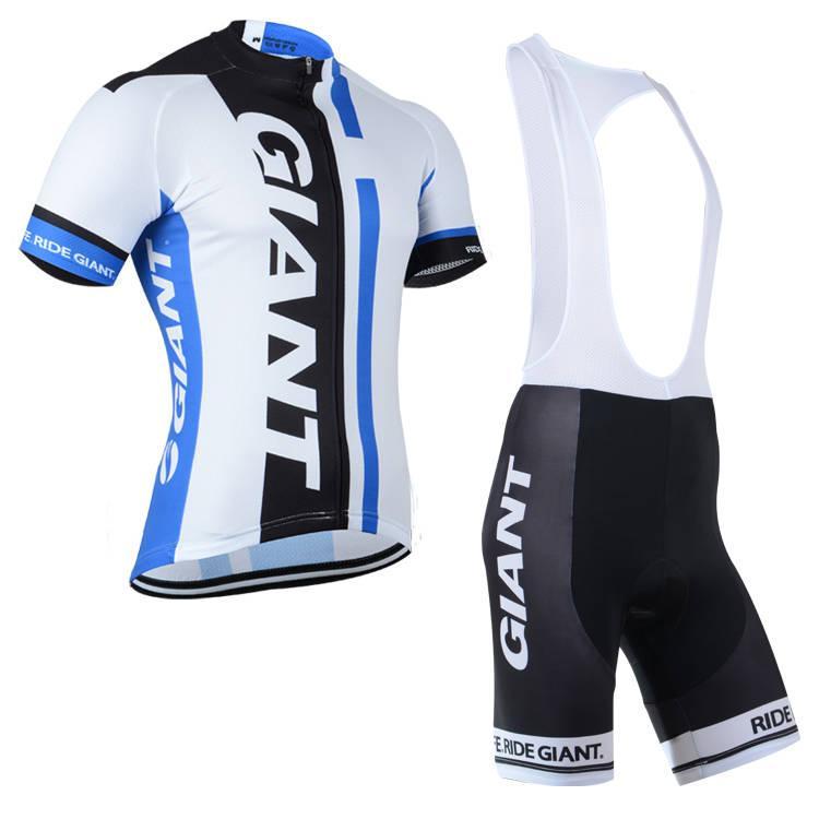 Pantaloncini in jersey maniche corte ciclismo GIANT set abbigliamento ciclismo estivo estivo Kit senza maniche D1307
