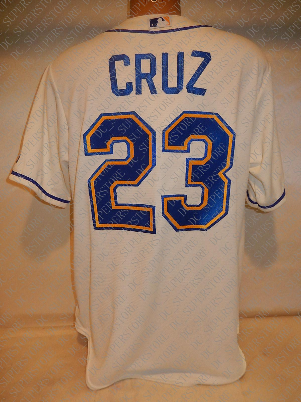 100% bordados personalizados NELSON CRUZ Jerseys Branco New costurado Mens camisola Personalizar qualquer número nome MEN XS-5XL NCAA JERSEY