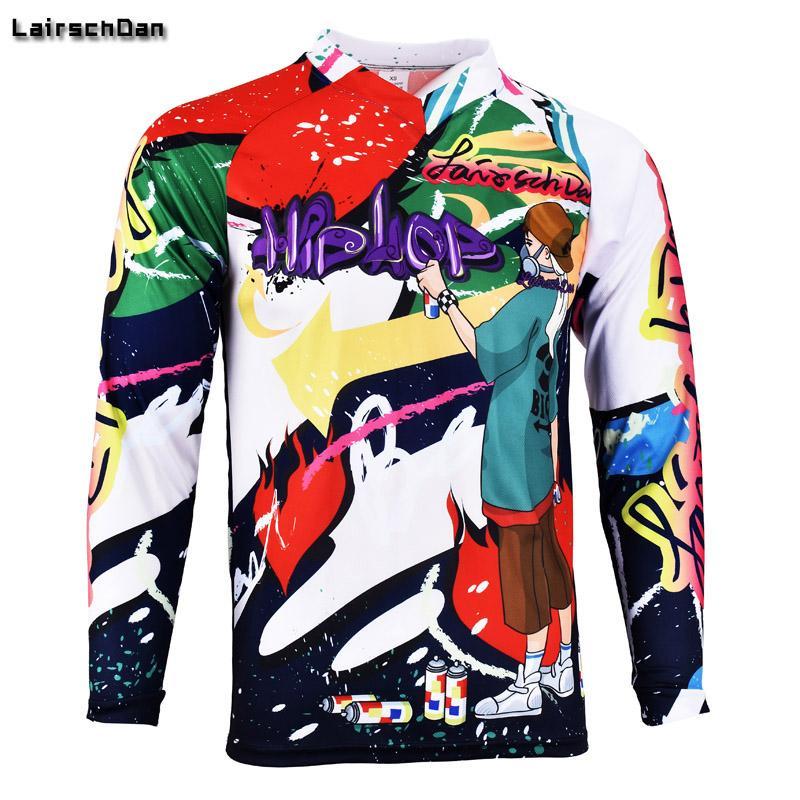SPTGRVO LairschDan 2020 Downhill Jerseys MTB bicicleta Motocross Ciclismo BMX Jersey Men manga comprida DH respirável rápida roupa seca