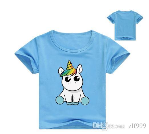 2020 vendita calda estate all'ingrosso nuovo arriva bambini ragazza magliette modelli tee ragazze T delle parti superiori Unicorn delle magliette del cotone dei vestiti del bambino