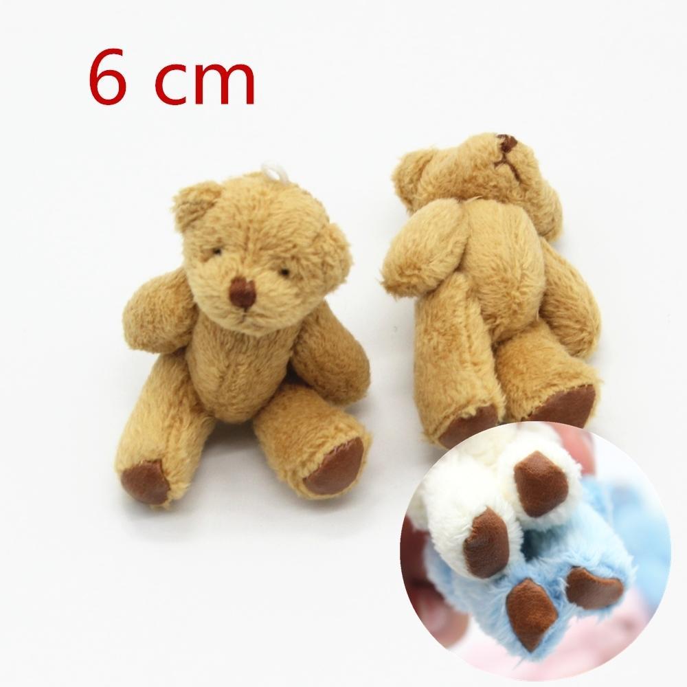 5 adet 6.0 cm'lik Yeni sevimli Küçük Oyuncak Ayılar Peluş Yumuşak oyuncaklar İnci Kadife Teddy Bebekler İçin Çocuk Kız Hediyeleri