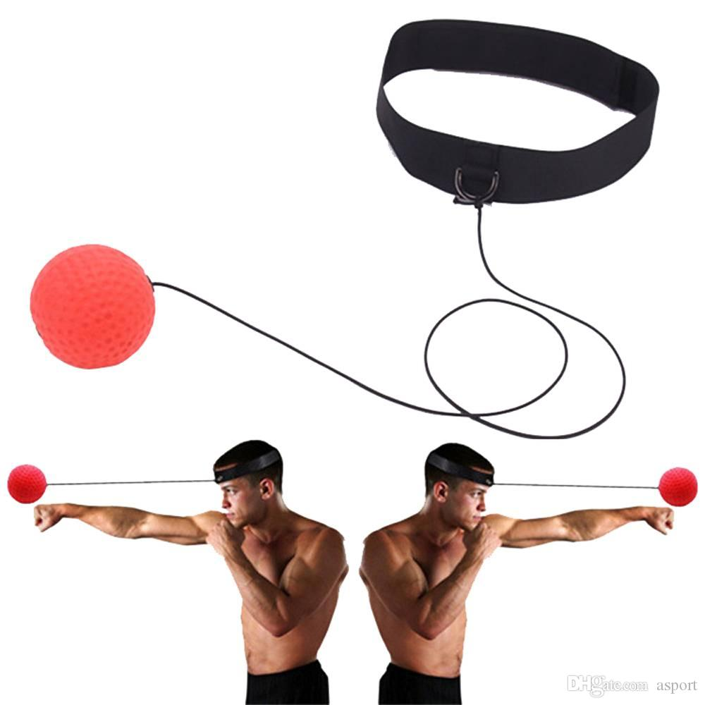 Boxing Reflex Speed Punch Ball Sanda Boxer Raising Reaction Force Hand Eye Tr BA