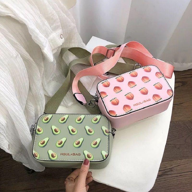 Frutta Avocado borsa piccola scatola Forma spalla Fragola Crossbody Anguria Fashion Messenger Bag MX191216