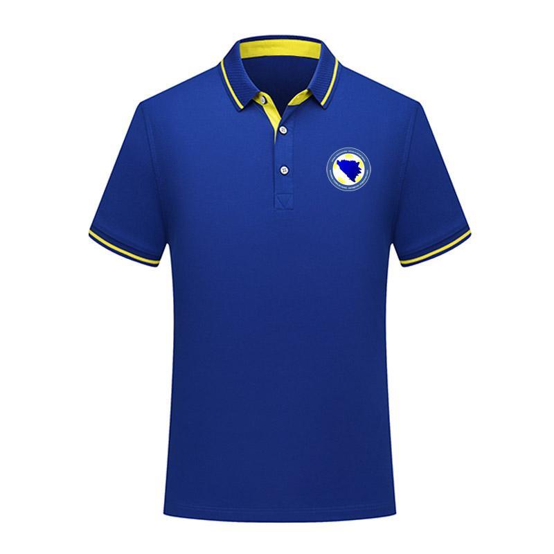 Polos Futbol Futbol Tişört Jersey Erkekler Polos eğitim 2020 Bosna Hersek milli takım Futbol Tişört Futbol polos