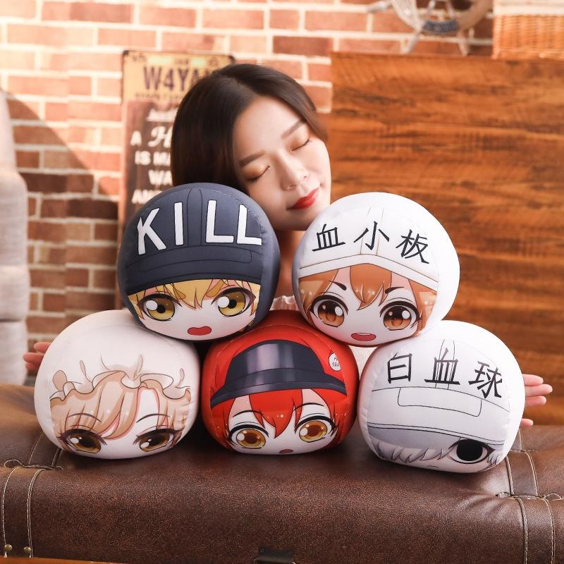 Works Related Products Anime Red Blood Cell White Blood Cell Platelet Plush Toys Foam Puppets Stuffed Animals & Plush Particles