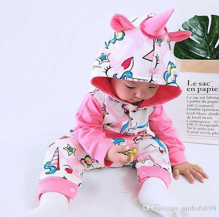 2020 Sonbahar / İlkbahar Yenidoğan Bebek Giyim Babyworks Bir Adet Bebek Romper Bebek Erkekler Kızlar Uzun Kollu Tulumlar Giyim Bebek Rompers