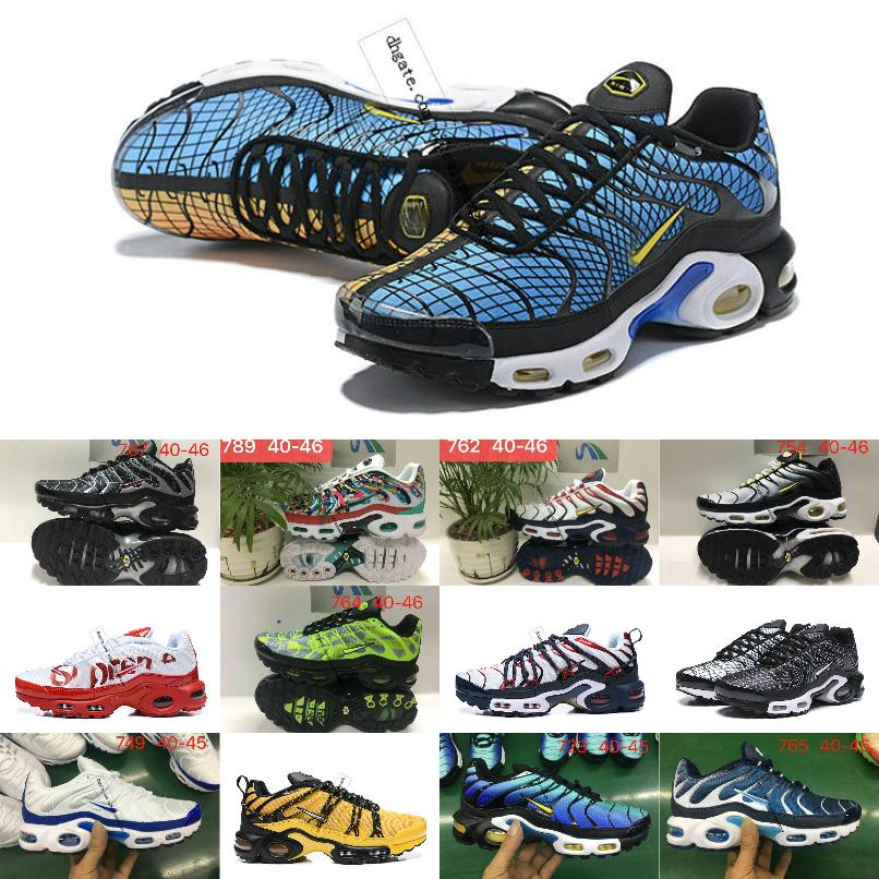 2020 New TN SHOES New Designs Top Quality TN Mens Breathable Mesh Chaussures Homme Tn Plus Requin Luxury jogging Casual Sneakers 40-46