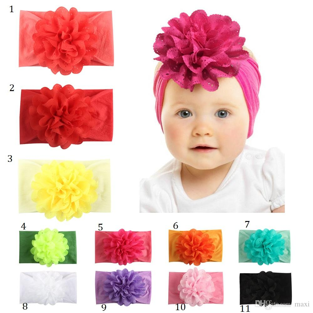 Xmas Baby Girls Toddler Hairband Headband Stretchy Cloth Head Wrap Kids Gifts
