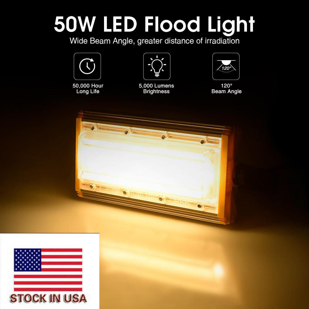 ABD Stok 50W Taşkın Işık 220V LED projektör Açık Modül Taşkın Işıklar Lamba Peyzaj Aydınlatma Armatür
