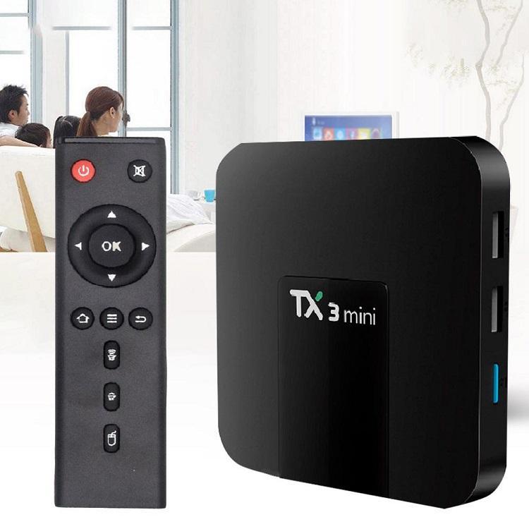 1 pcs Set Top Box TV hotsale s905W TX3 MINI com display digital Android 7.1 4K WiFi Media Player